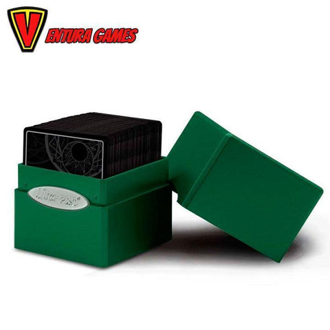 UP - Deck Box - Satin Cube - Forest Green - Ventura Games