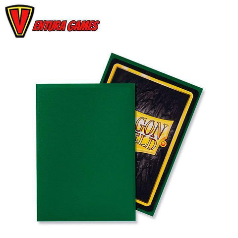 Dragon Shield Standard Sleeves - Matte Green (100 Sleeves) - Ventura Games