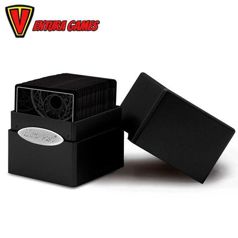 UP - Deck Box - Satin Cube - Jet Black - Ventura Games
