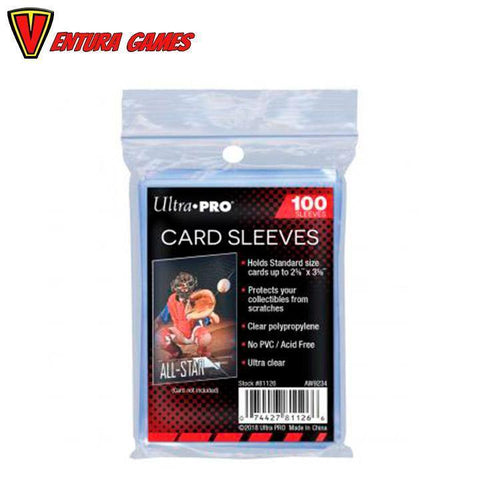 UP - Standard Sleeves - Regular Soft Card (100 Sleeves) - Ventura Games