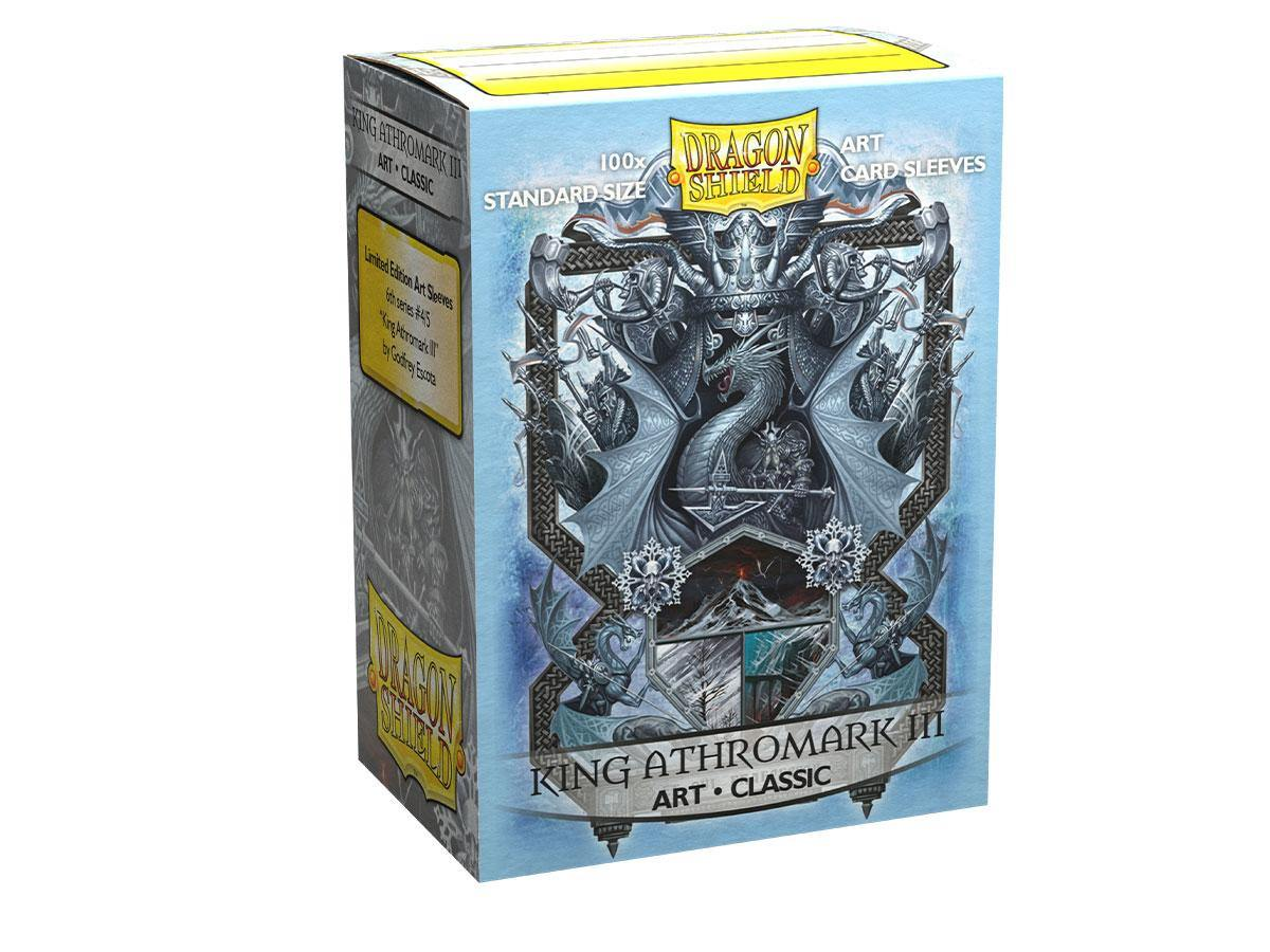 100 Dragon Shield Sleeves - Classic King Athromark III - Ventura Games