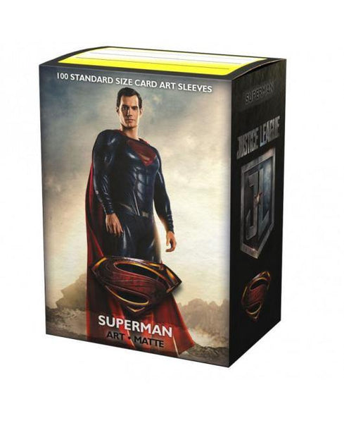 Justice League Matte Art Sleeves - Superman (100 Sleeves) - Ventura Games