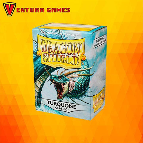 Dragon Shield Standard Sleeves - Turquoise - Ventura Games