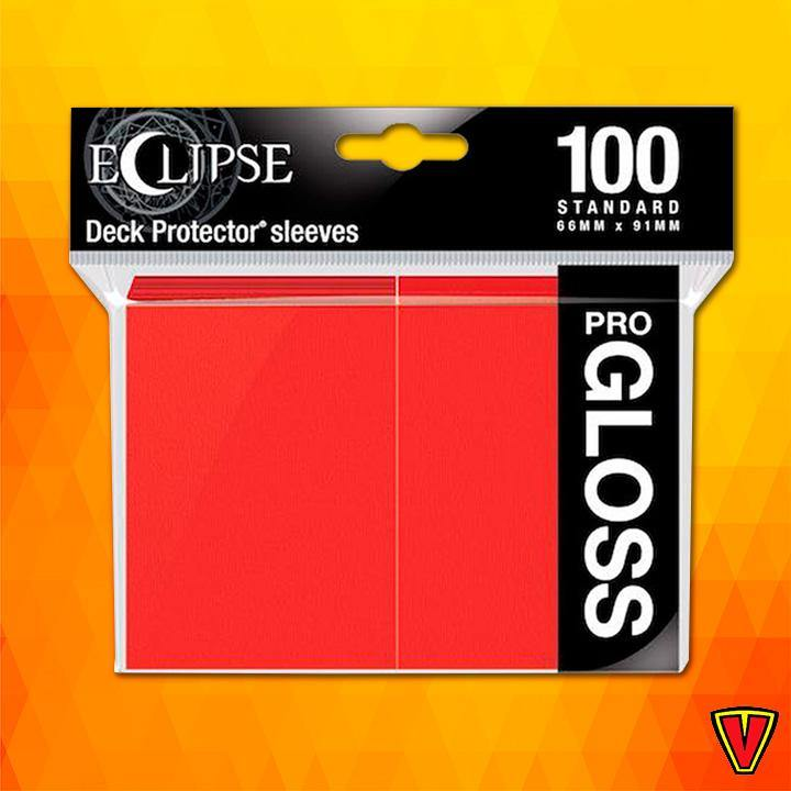 UP - Standard Sleeves - Gloss Eclipse - Apple Red - Ventura Games