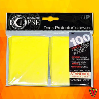 UP - Standard Sleeves - PRO-Matte Eclipse - Lemon Yellow - Ventura Games
