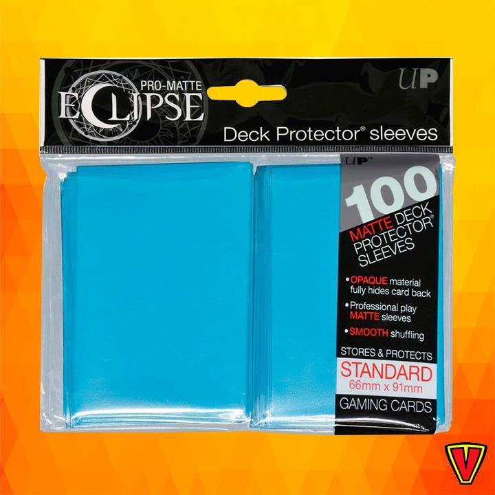 UP - Standard Sleeves - PRO-Matte Eclipse - Sky Blue - Ventura Games