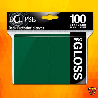 UP - Standard Sleeves - Gloss Eclipse - Forest Green - Ventura Games