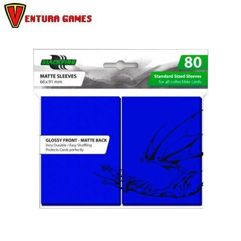 Blackfire Standard Sleeves - Blue (80 Sleeves) - Ventura Games