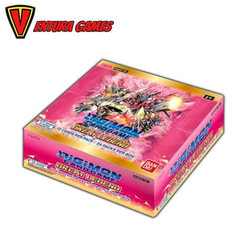 Digimon Card Game - Great Legend Booster Box Display BT04 (24 Packs) - Ventura Games