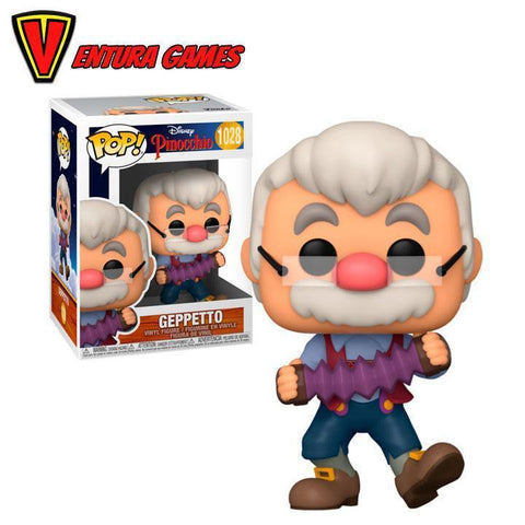 Funko POP! Pinocchio - Geppetto w/accordion Vinyl Figure 10cm - Ventura Games