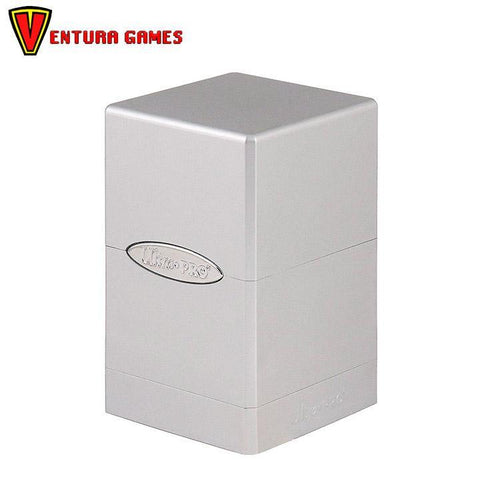 UP - Deck Box - Satin Tower - Metallic Silver