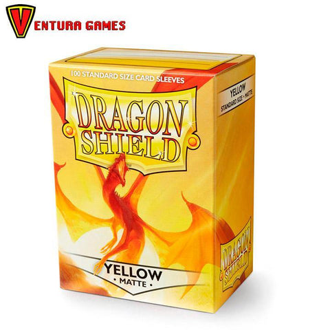 Dragon Shield Standard Sleeves - Matte Yellow - Ventura Games