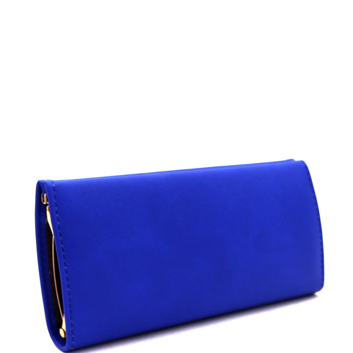 Smartphone Friendly Frame Snap Wallet Cobalt Blue