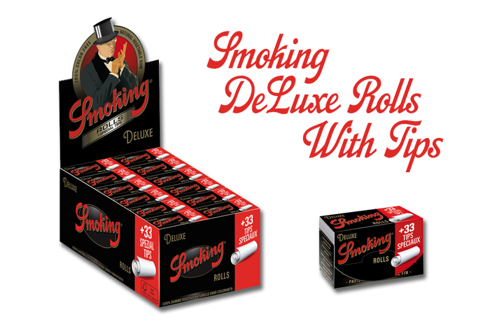 NEW Product Alert... Smoking DeLuxe Rolls With Tips are here!