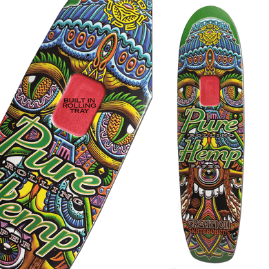 (SOLD OUT) Pure Hemp Chris Dyer Satori Skate Deck With Built In Rolling Tray