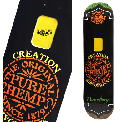 (SOLD OUT) Pure Hemp Creations Skatedeck With Built In Rolling Tray