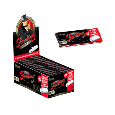 Smoking DeLuxe 1 1/4 Medium Size + Tips
