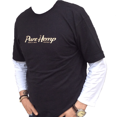 Pure Hemp Black Hemp/Cotton T-Shirt