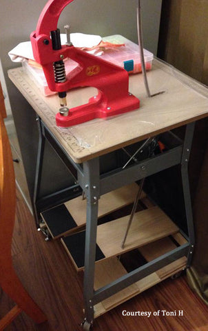 KAM Tabletop Press Mounted to Foot Kick