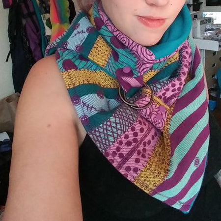 Easy DIY Trendy Neck Warmer Scarf with Buckles and KAM Snaps