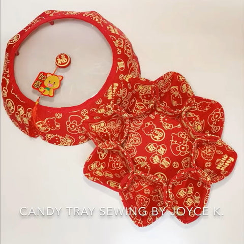 Fabric Chinese Candy Party Tray with KAM Snaps
