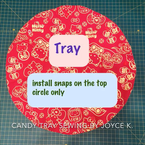 Fabric Chinese Candy Party Tray with KAMsnaps