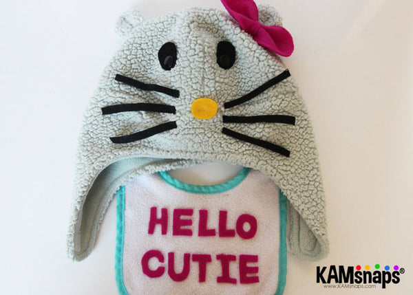 Make Your Own Hello Kitty Child Toddler Kid Costume with KAM Snaps Snap Fasteners