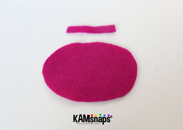 How to make a felt bow tie with KAM snap fasteners no sew tutorial
