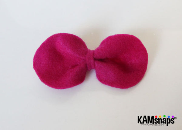DIY Hello Kitty Bow Tutorial with KAM Snap Fasteners Easy No Sew Tutorial