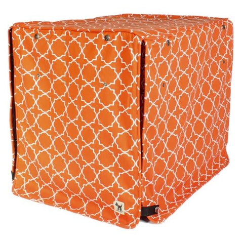 Dog crate kennel cover with KAM snap fasteners full privacy