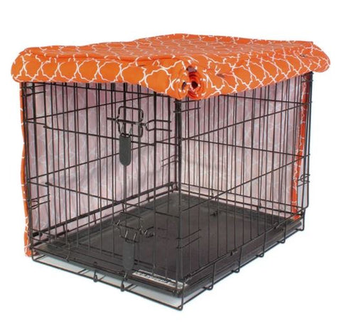 Dog crate kennel cover with KAM no-sew button snaps poppers