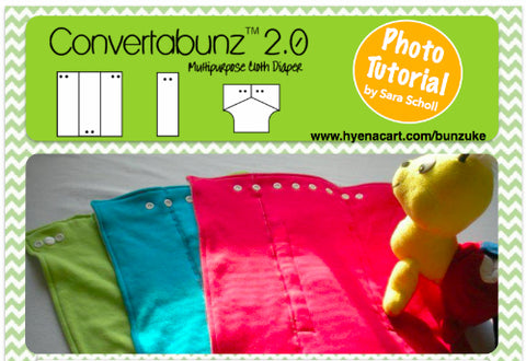Convertabunz Versatile Multipurpose Cloth Diaper Made with Double-Sided Prong Stud Snap Fasteners