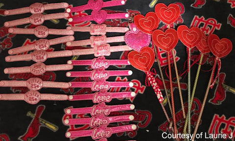 Valentine Day's Snap On Bracelets with KAM snaps no-sew button fasteners