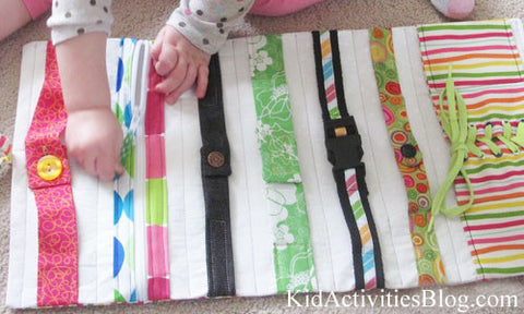 No-Sew Button Fasteners Kids Activity Busy Mat