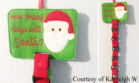 Christmas Holiday Santa Countdown Chain with KAM Snap Fasteners
