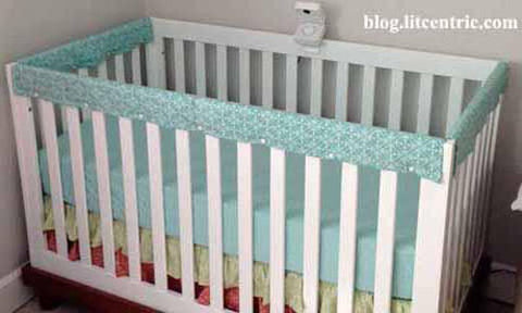 Baby Crib Rail Cover with KAM snap fasteners