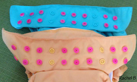 Cover Unused Snaps Sockets Studs on a Cloth Diaper with KAM fasteners
