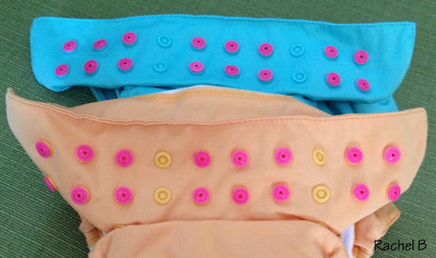 Cover Unused Snaps on Cloth Diapers with Snap Sockets Studs Parts