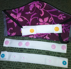 Extender Strap for Elastic Face Masks to Reduce Discomfort KAMsnaps