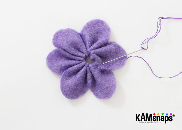 felt flowers diy tutorial pattern sew ends together to secure flower shape