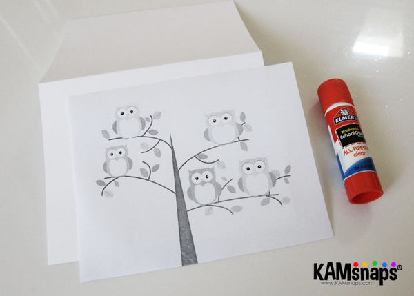 How to make a greeting card using KAM snap fasteners owl themed