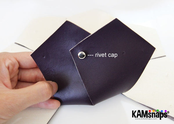 KAM snap rivet cap metal rivets installation with hand press pliers