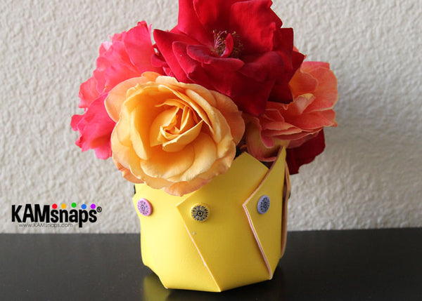 How to make a marine vinyl vase with KAM snaps plastic snap fasteners completed project
