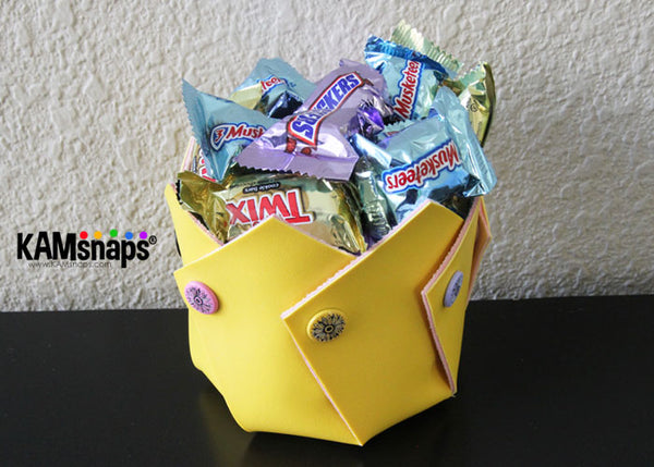 KAM snap fasteners snap swirly bowl candy treat holder