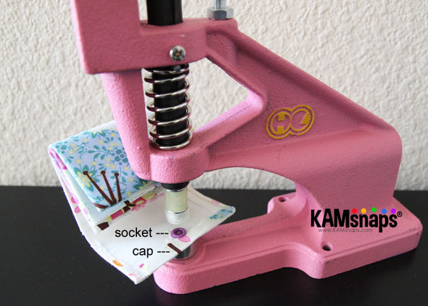 Make Fabric Covered KAM Plastic Snaps with Cover Buttons Professional Press Installs Snap Fasteners