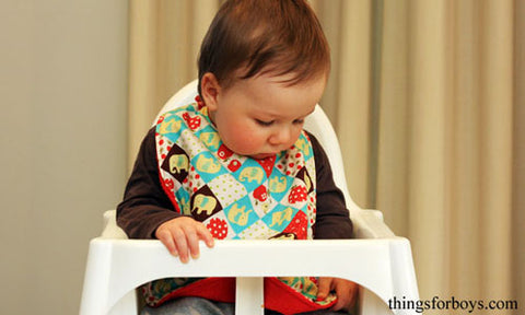 Mega Extra Large Baby Bib Tutorial Free Template Pattern with KAM snap fasteners