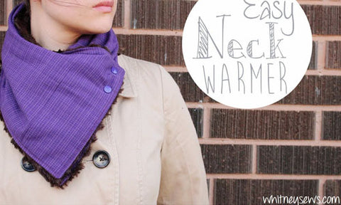 Cowl Neck Warmer with KAM snap fasteners