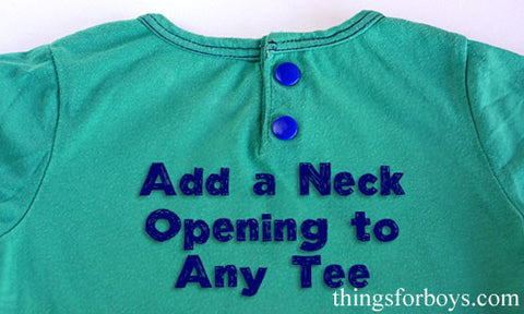 Widen the Neck Opening on A Shirt with Button Snaps Fasteners