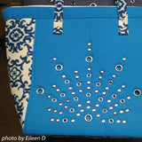 Carry Bag with Rivets Grommets
