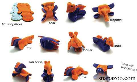 Snap Fasteners Snapazoo Fabric Origami Interactive Soft Toy Tutorial DIY How-To